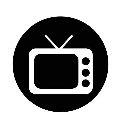 Ícone retrô de tv vetor