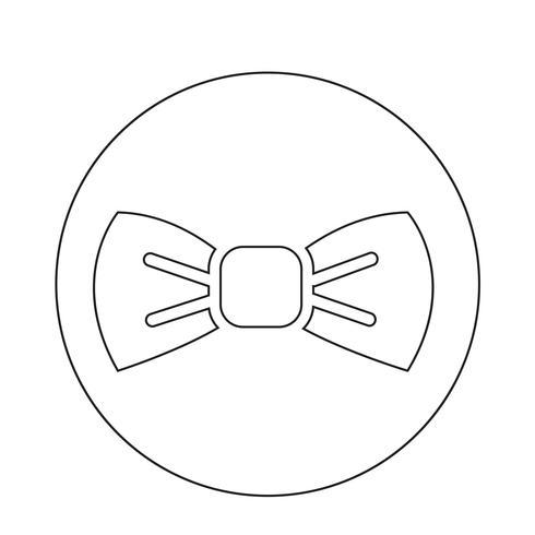Ícone de gravata borboleta vetor