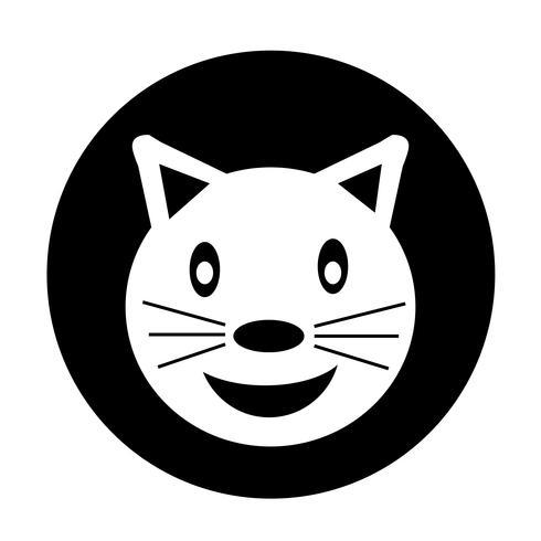 Gato, ícone vetor