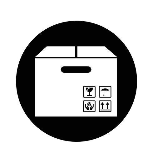 Ícone do pacote de caixa vetor