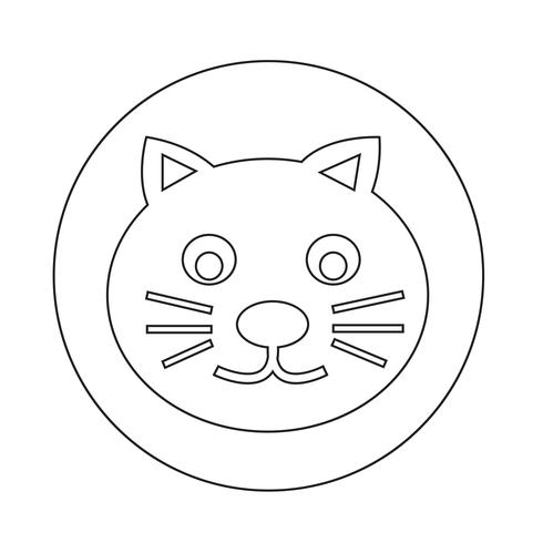 ícone de gato vetor