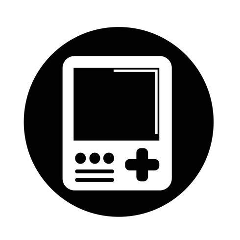 Ícone do console de jogos portáteis vetor