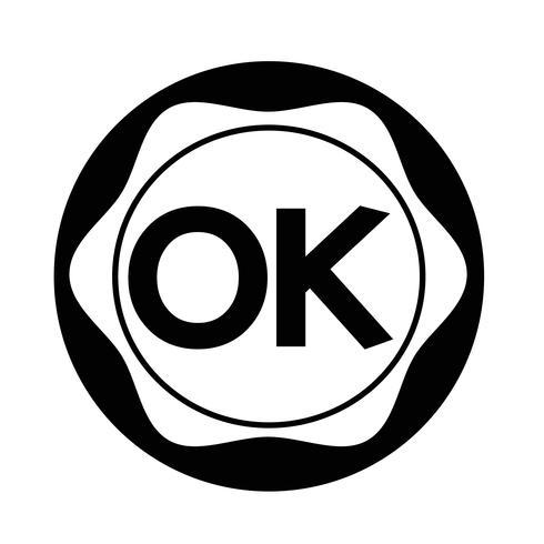 Botão OK vetor
