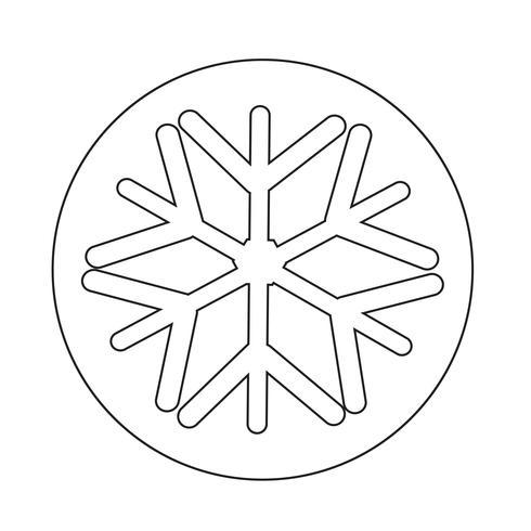 Ícone de floco de neve vetor