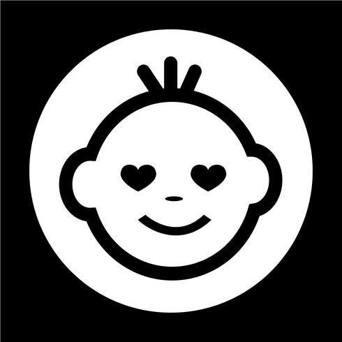 Ícone de rosto de bebê vetor