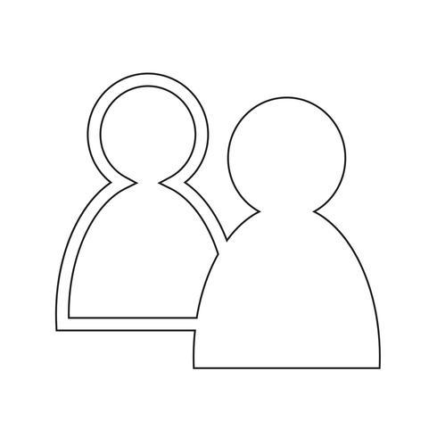 sinal de ícone de pessoas vetor