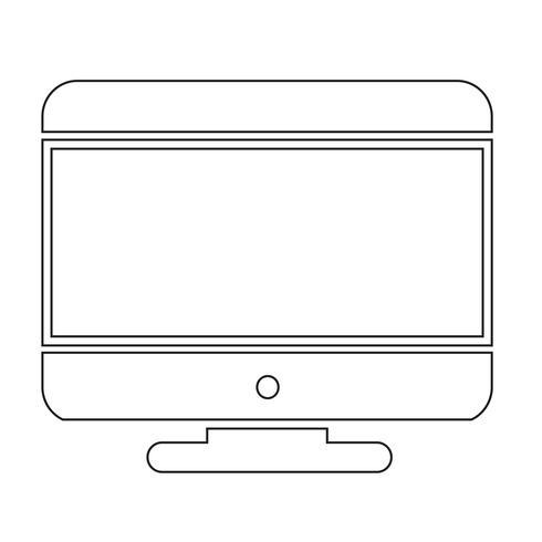 Ícone computador desktop vetor