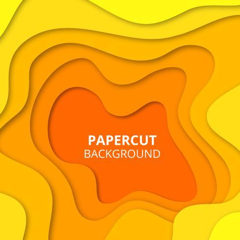 Fundo de corte de papel amarelo vetor