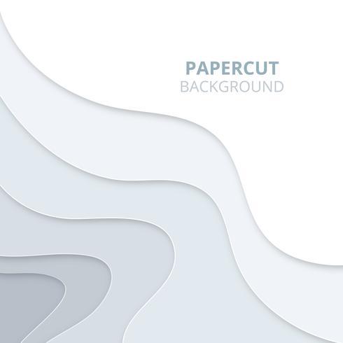 O fundo 3D abstrato com papel claro cortou formas. Fundo Papercut vetor