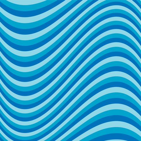 Listra azul ondulada vetor