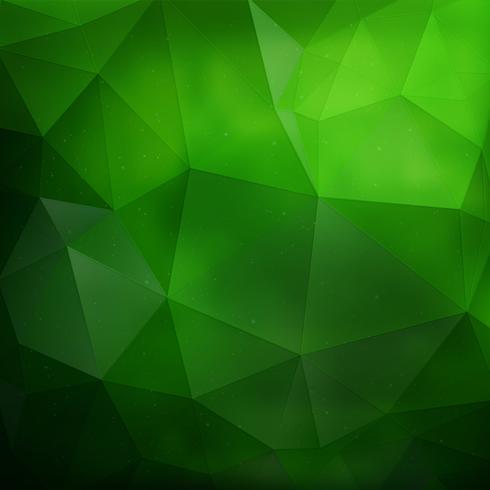 Fundo geométrico verde vetor