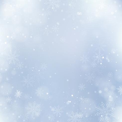 Fundo abstrato de Natal com flocos de neve. Fundo elegante de inverno vetor