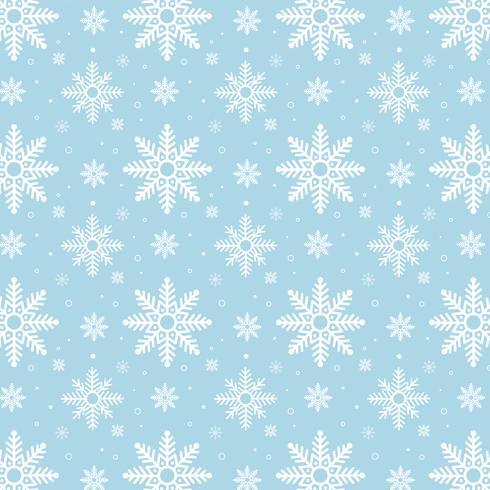Padrão de flocos de neve azul. Padrão de flocos de neve branco sobre fundo azul vetor