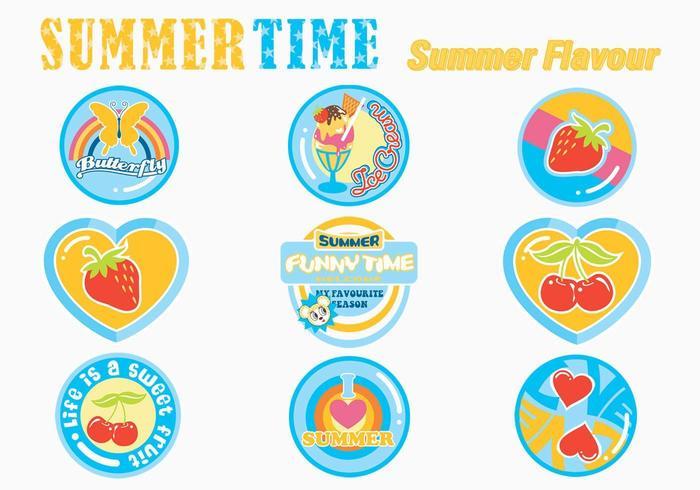 Summer Sticker Vector Pack