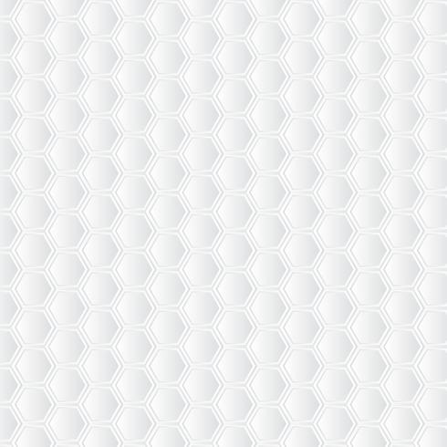 Fundo branco do favo de mel. Padrão de arte de papel vetor