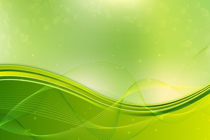 Fundo abstrato ondas verdes. vetor