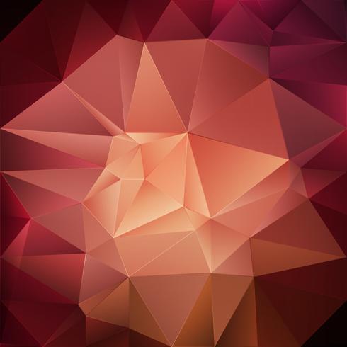 Fundo geométrico vermelho vetor