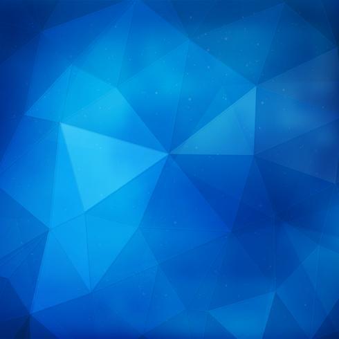 Fundo geométrico azul vetor