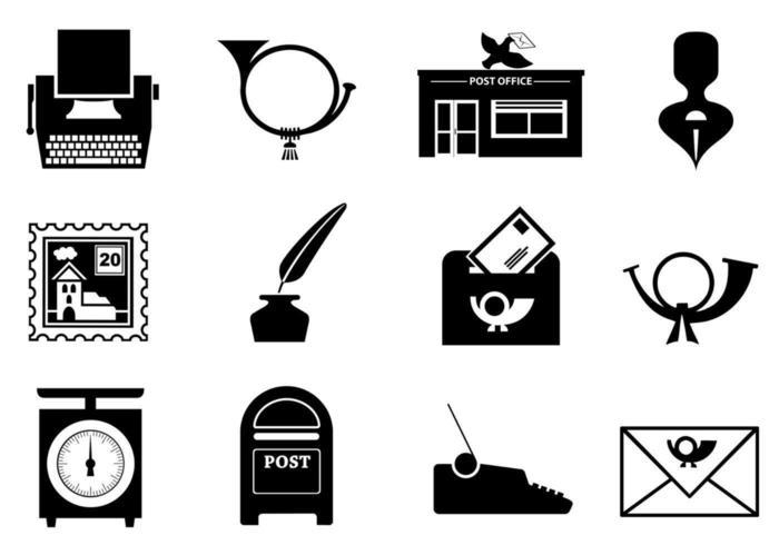 Pacote de vetores de correios e correios
