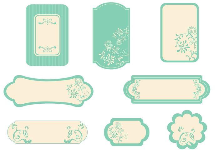 Pacote de vetores de etiqueta Vintage Mint