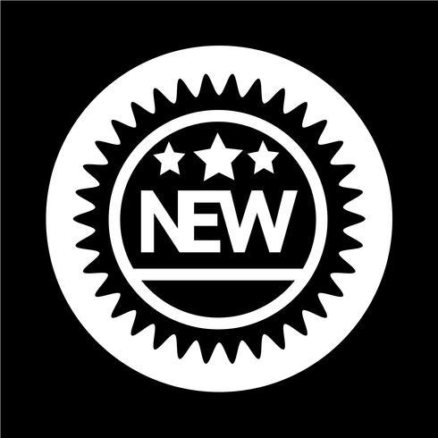 Novo ícone vetor