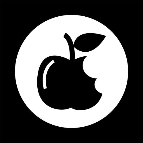 Ícone da Apple vetor