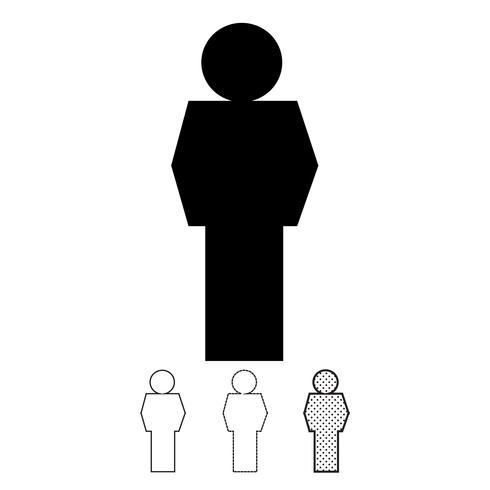 Pessoas, vetorial, ícone vetor