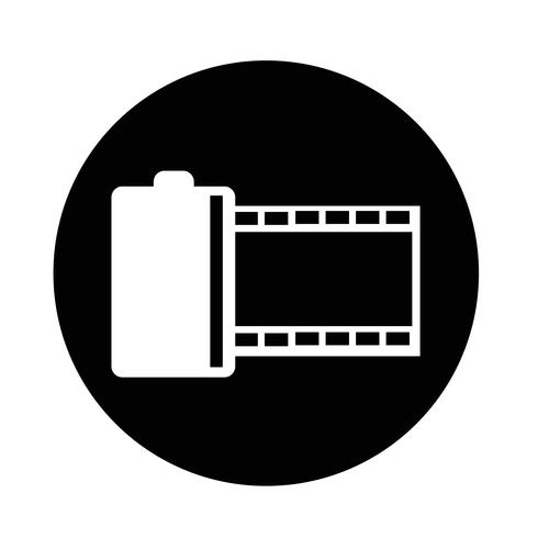 ícone de fita de filme vetor
