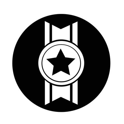 ícone de medalha vetor