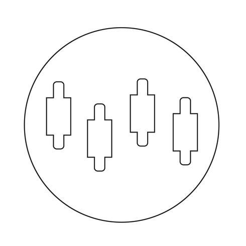 ícone de gráfico de diagrama vetor