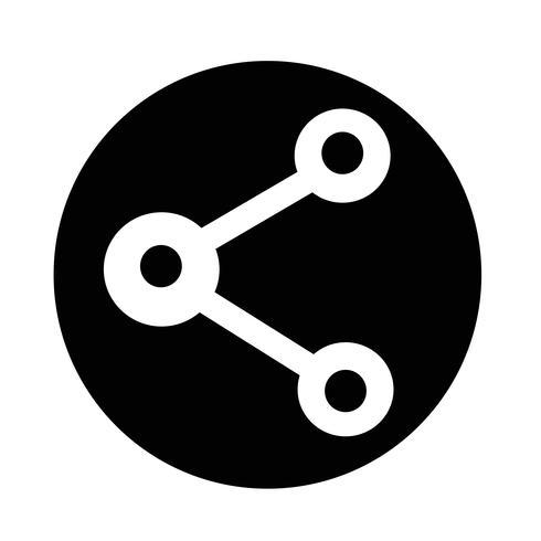 compartilhar ícone da web vetor