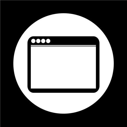 Ícone do navegador vetor
