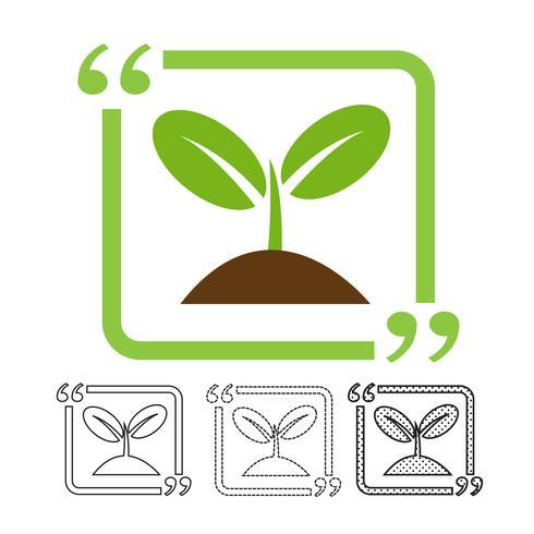 Vetor de ícone de árvore de planta