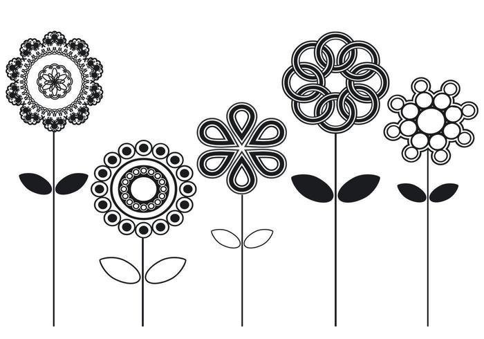 Pacote de vetores florais abstratos