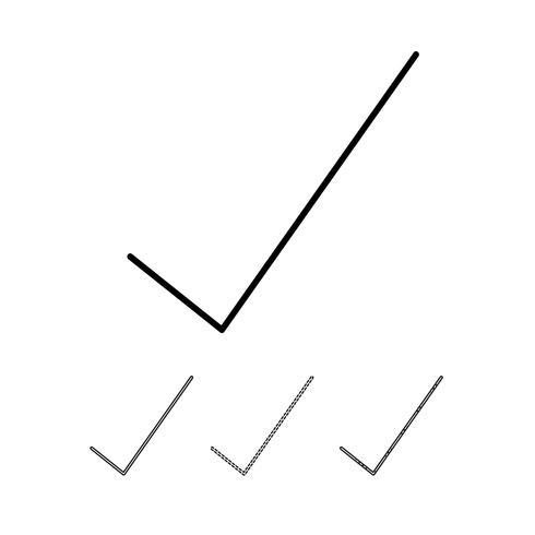 Vetor de ícone de marca de seleção