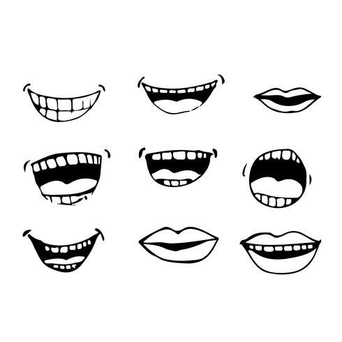 ícone de boca dos desenhos animados vetor