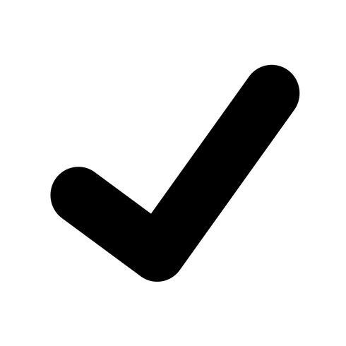 ícone de marca de seleção vetor