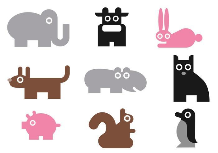 Pacote de vetores de animais simples