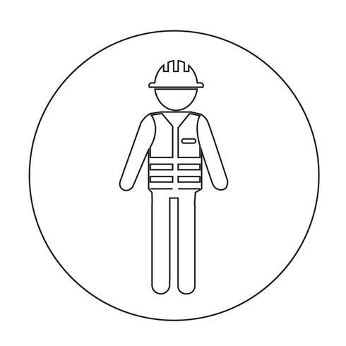 Ícone de pessoas trabalhador vetor