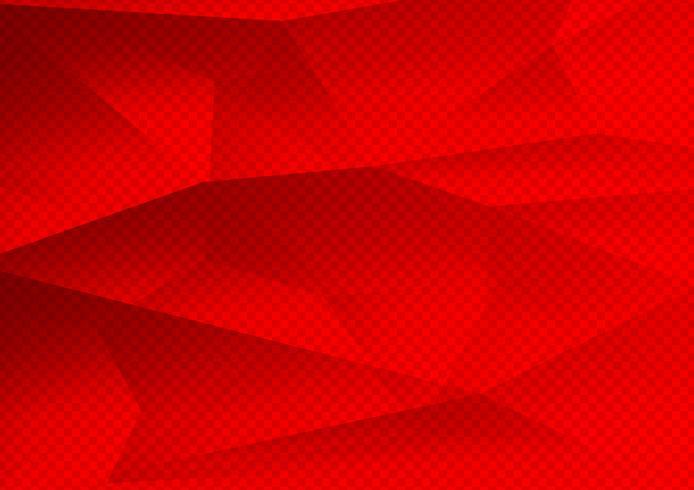 Polígono de cor vermelha abstrato tecnologia moderna, ilustração vetorial vetor