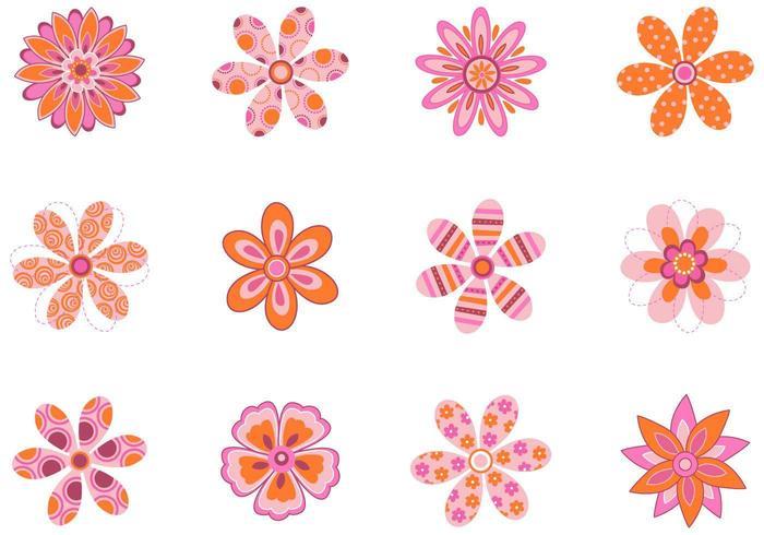 Pacote De Vetores Floral Padronizado