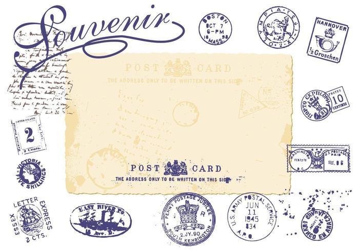 Pacote de vetores de selos vintage