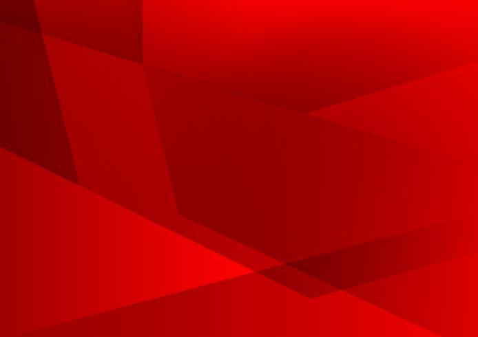 Fundo de vetor abstrato geométrico de cor vermelha, design moderno
