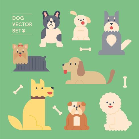 raça de cães. vetor