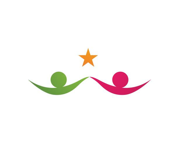 Adoção e assistência comunitária Logo template vector icon