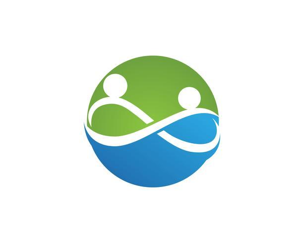Adoption community care Ícone de vetor de modelo de logotipo