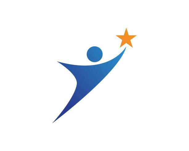 liderança sucesso pessoas saúde vida logotipo modelo ícones vetor