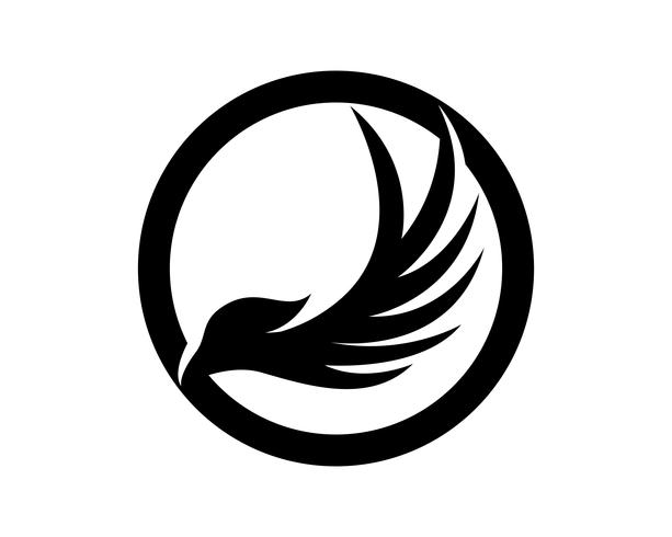 Asas bird sign resumo modelo ícones app vetor