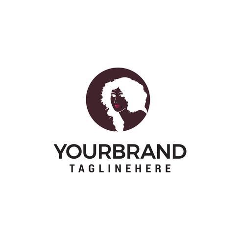 Vetor de modelo moda menina logotipo design conceito