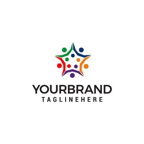 people star busines logo design conceito modelo vector